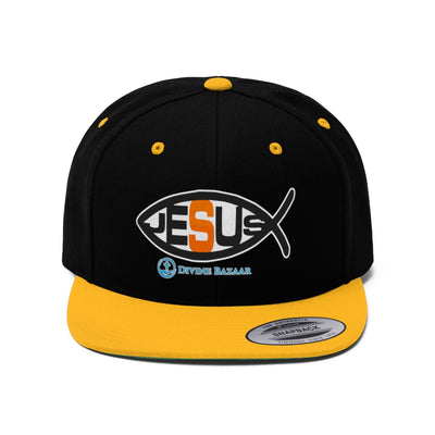 Jesus Fish Symbol Unisex Flat Bill Hat
