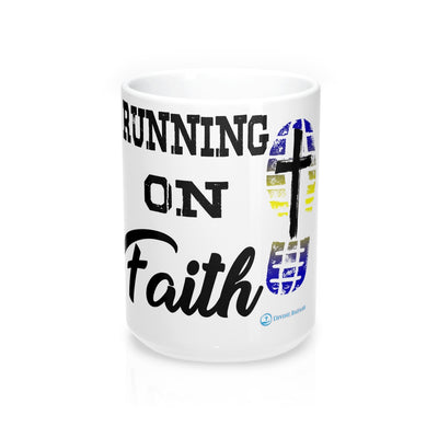 Mug 15oz - Running on Faith