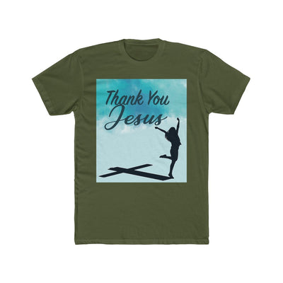 Men's Cotton Crew Tee - Thank You Jesus