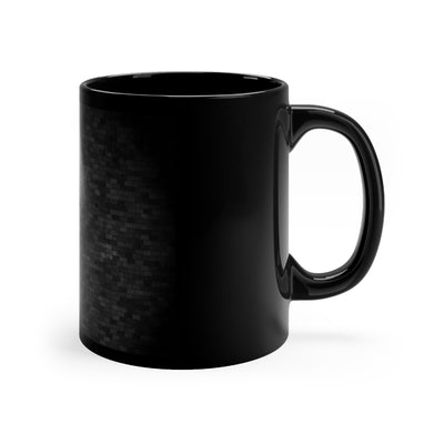 Grunge Brick with Metallic Cross Black Mug