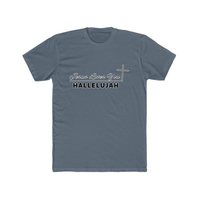 Men's Cotton Crew Tee - Jesus Loves You Hallelujah