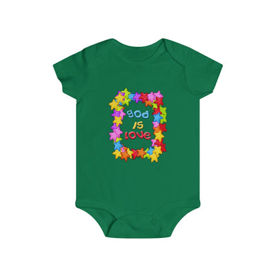 God is Love Colorful Infant Rip Snap Tee