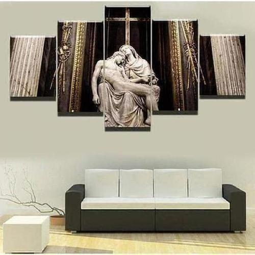 5 Piece - Sebastiano Statue Wall Art Canvas - The Divine Bazaar