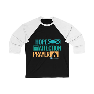 Hope affection Prayer Unisex 3/4 Sleeve Baseball Tee