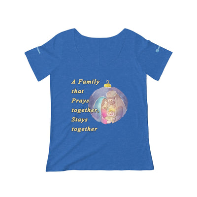 Family prays together stays together Women's Scoop Neck T-shirt