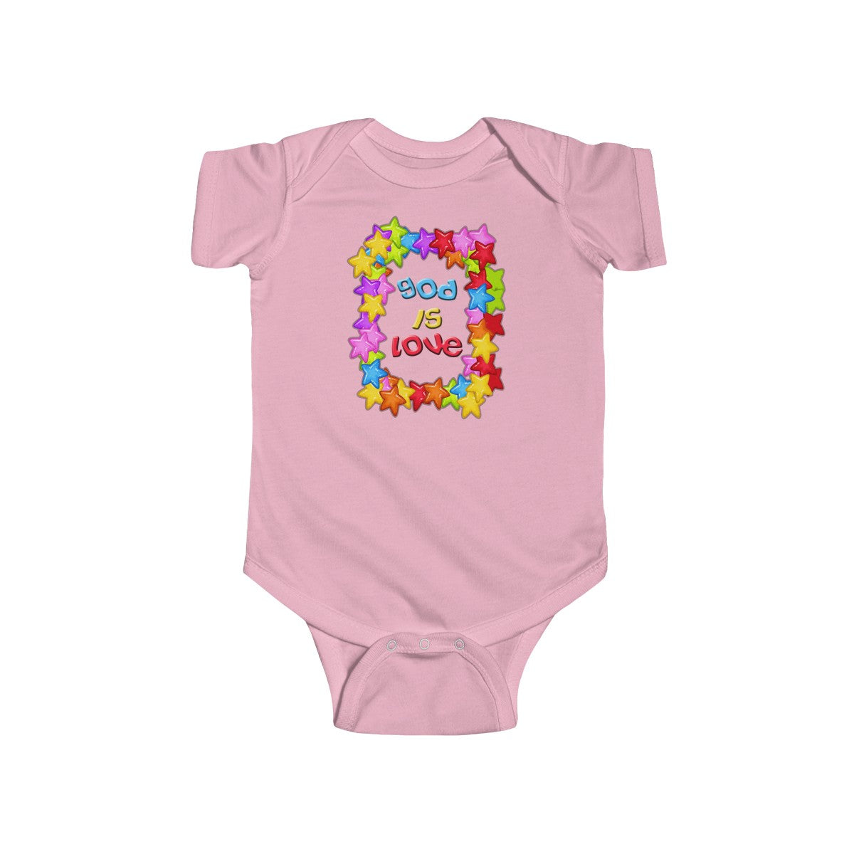 God is Love Colorful Infant Fine Jersey Bodysuit