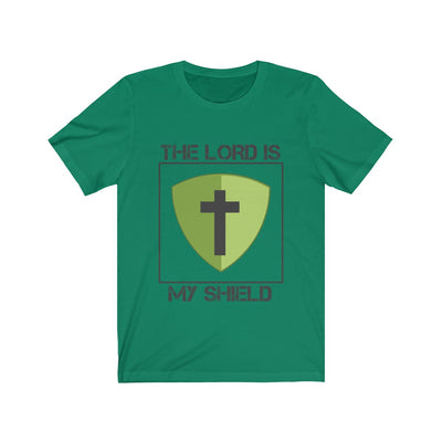 THE LORD IS MY SHIELD Unisex Jersey Short Sleeve Tee