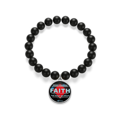 Matte Onyx Bracelet - Saved Through Faith The Gift Of Grace