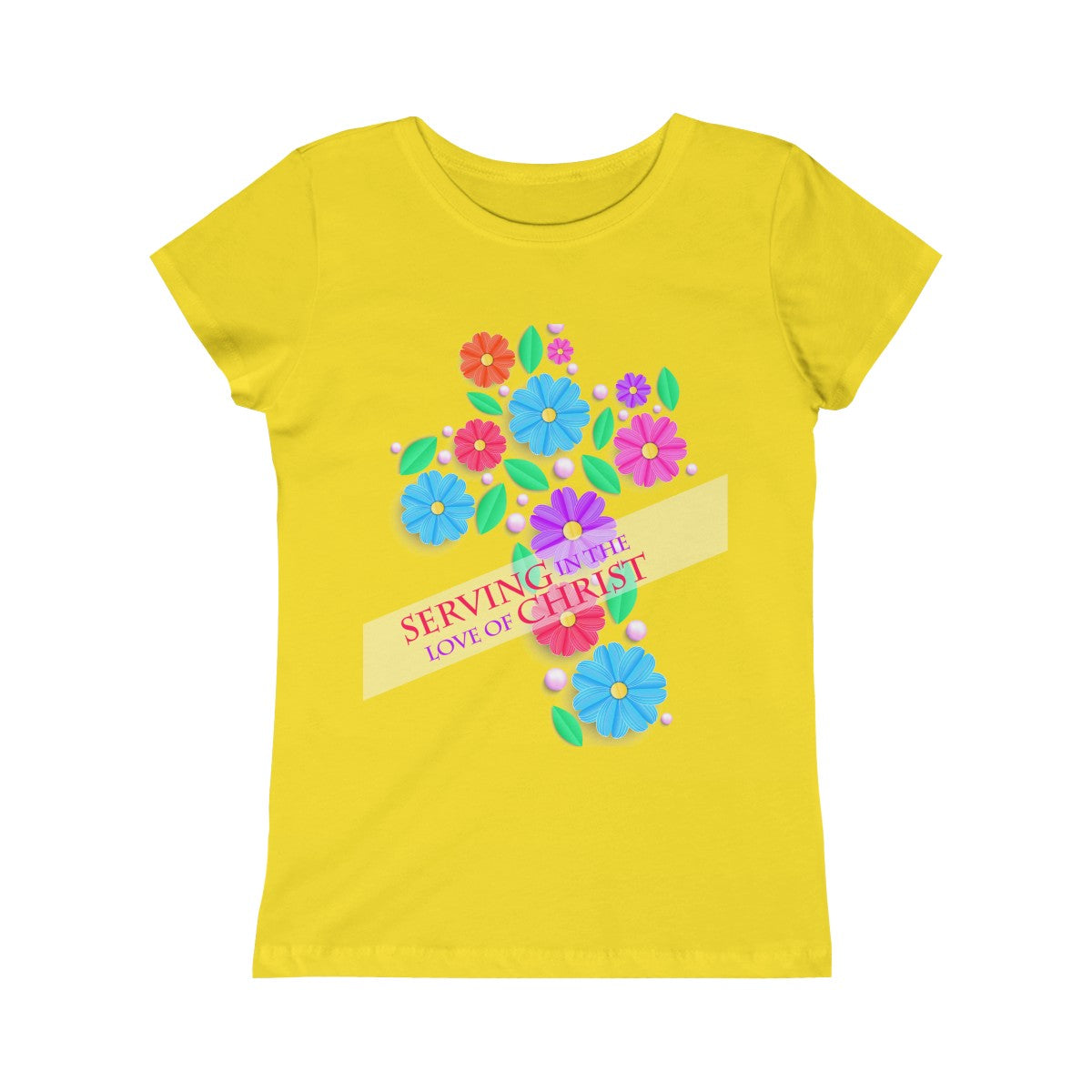 Serving In The Love of Christ Girls Princess Tee