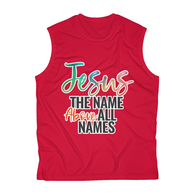 Jesus Above All Names Men's Sleeveless Performance Tee