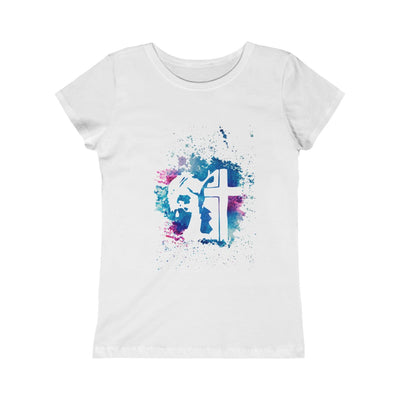 Jesus Paint Art Girls Princess Tee