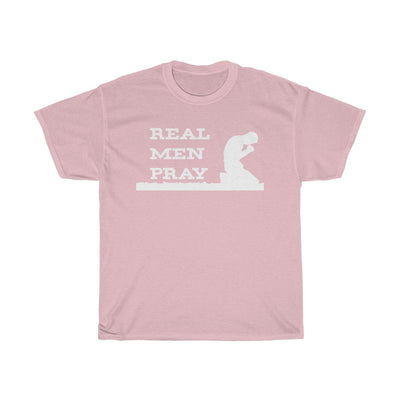 Unisex Heavy Cotton Tee - Real Men Pray