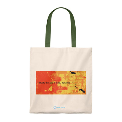 WALKING WITH GOD Tote Bag - Vintage