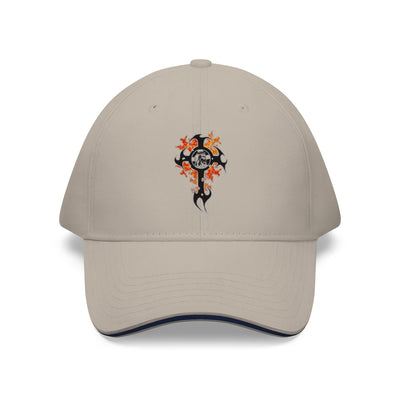 Cross on Fire Sandwich Brim Hat