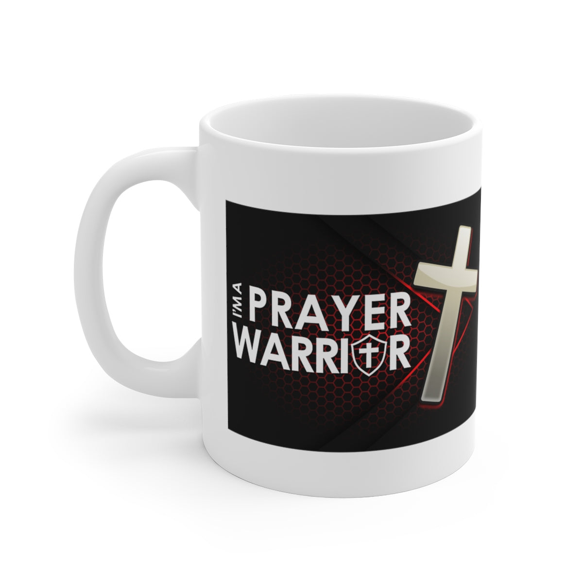 Im A Prayer Warrior White Ceramic Mug