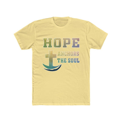 Men's Cotton Crew Tee -Hope- Anchor The Soul