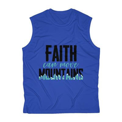 Our Faith can move Mountains Men's Sleeveless Performance Tee