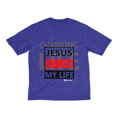 Men's Heather Dri-Fit Tee - Jesus Changed My life