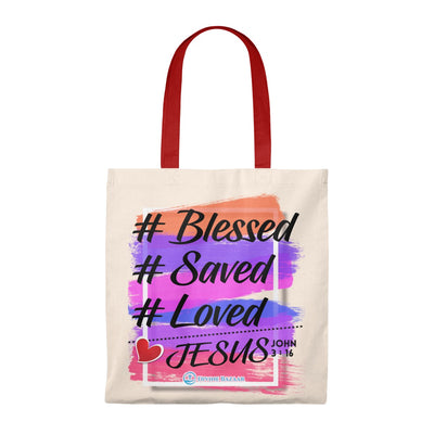 Tote Bag - Vintage- Saved Loved Blessed