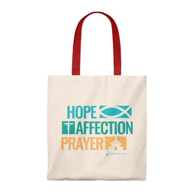 Hope Affection Prayer Tote Bag - Vintage