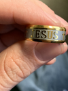18k Gold & Silver Jesus Ring