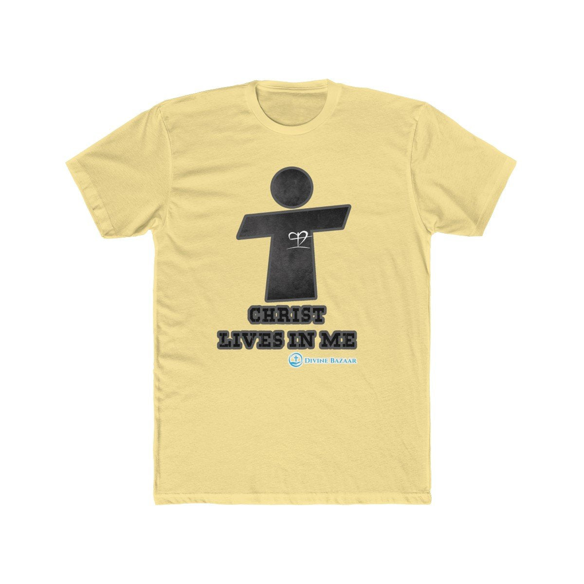 Men's Cotton Crew Tee - Christ Lives In Me
