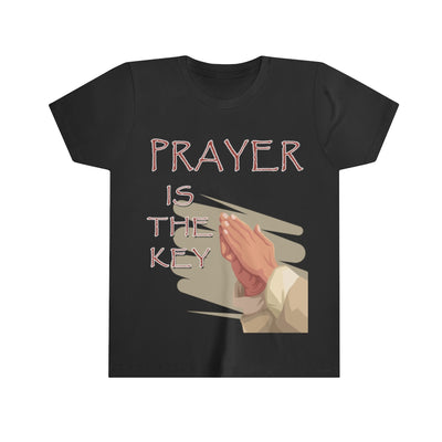 Prayer is the Key Jesus Hand Youth Short Sleeve Tee