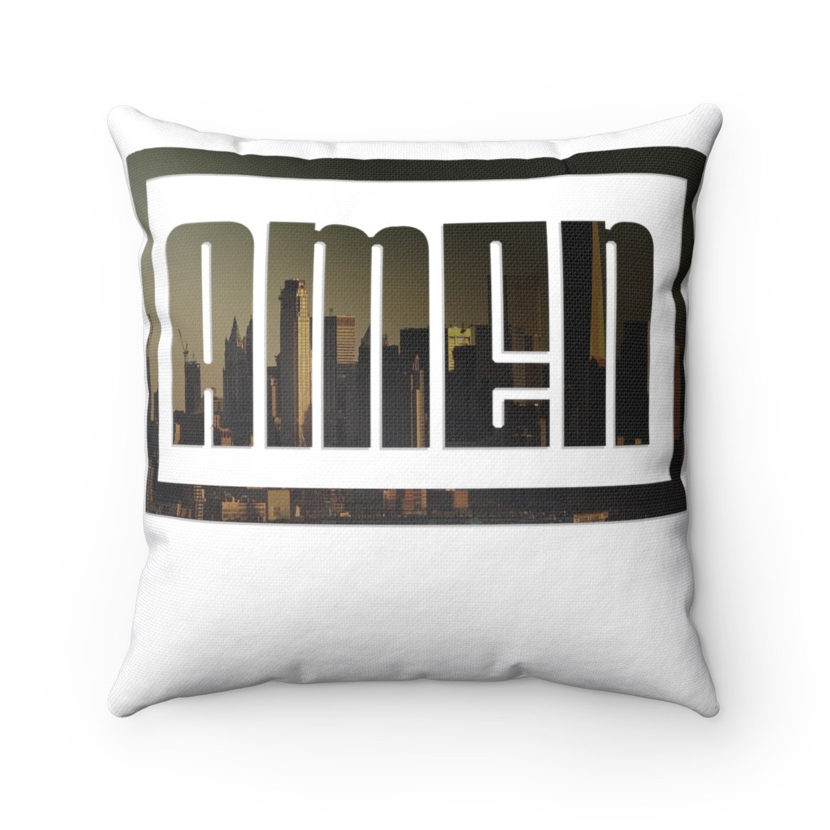 Amen (Spun Polyester Square Pillow)