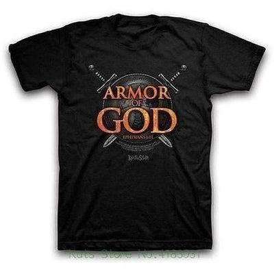 Armor Of God Printing Short Sleeve O Neck Tshirt - The Divine Bazaar