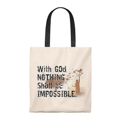 NOTHING shall Impossible Tote Bag - Vintage