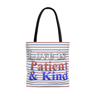 Love is Patient and Kind (AOP Tote Bag)