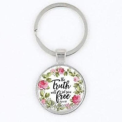 Bible Verse Inspirational Words Key Chain - The Divine Bazaar