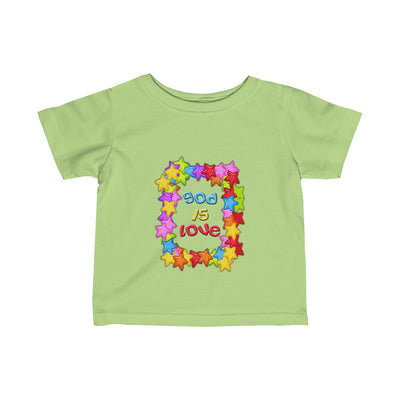 God is Love Colorful Infant Fine Jersey Tee