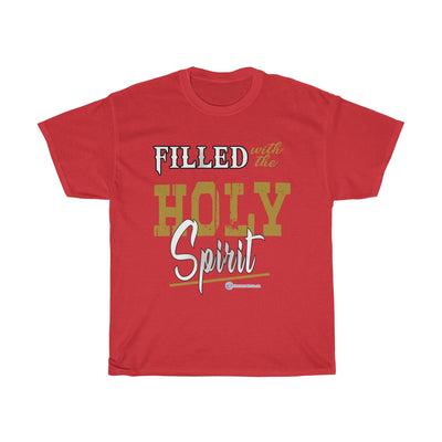 Unisex Heavy Cotton Tee - Filled with the Holy Spirit