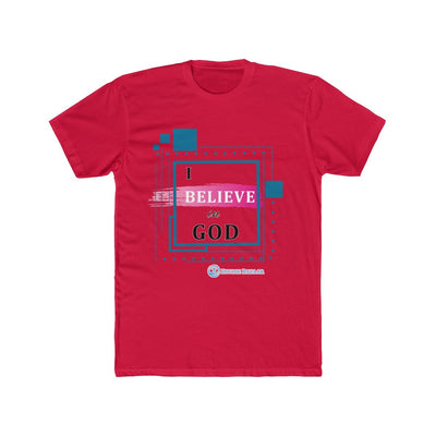 Men's Cotton Crew Tee- I Believe In GOD