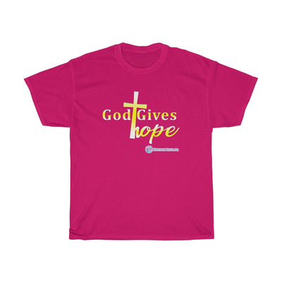 Unisex Heavy Cotton Tee - God Gives Hope