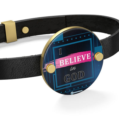 Leather Bracelet - I Believe in God