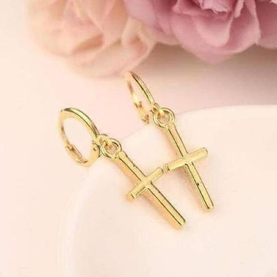 Charm cute Jesus Cross Earring - The Divine Bazaar