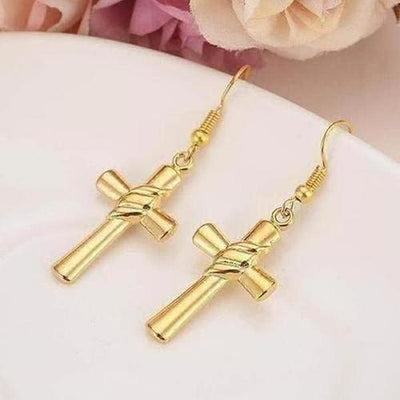 Charm knot Cross Earring - The Divine Bazaar