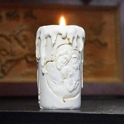 Christ Holy Family Candle Stick - The Divine Bazaar