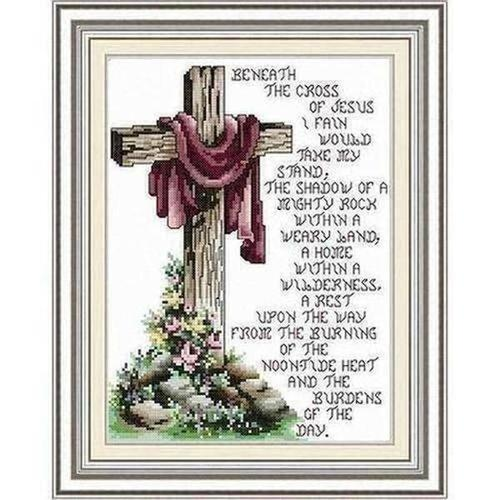 Christian Cross Rhinestone Embroidery Stitch Mosaic - The Divine Bazaar