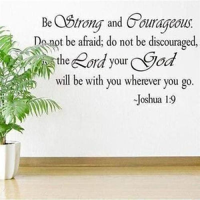 Christian Inspirational Lettering Wall Sticker - The Divine Bazaar