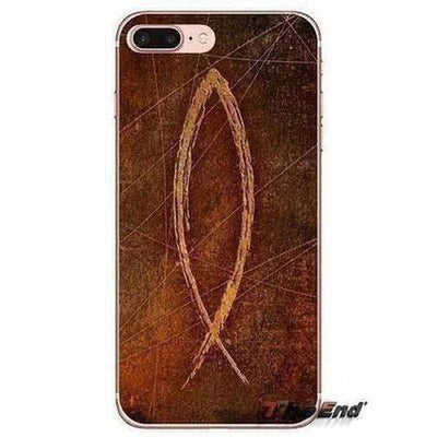 Christian of cross Fish symbol Soft Case For iPhone - The Divine Bazaar
