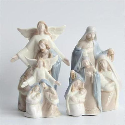 Christmas Decoy Holy Stars Candlestick - The Divine Bazaar