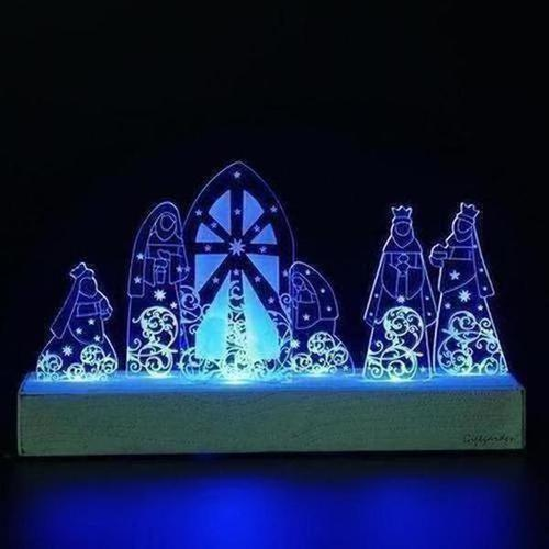 Christmas LED Home Decor Set Holy Family in Nativity Gifts - The Divine Bazaar