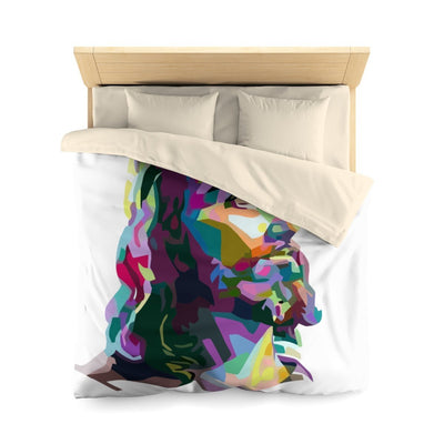 Colorized Jesus - Microfiber Duvet Cover