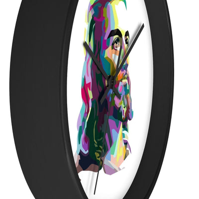 Colorized Jesus Wall clock