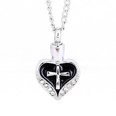 Cross My Heart Cremation Pendant