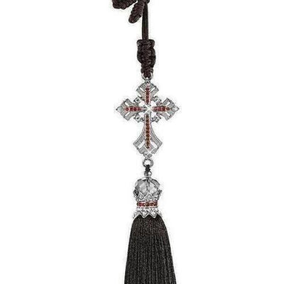 Crystal Diamond Jesus Cross Car Pendant - The Divine Bazaar