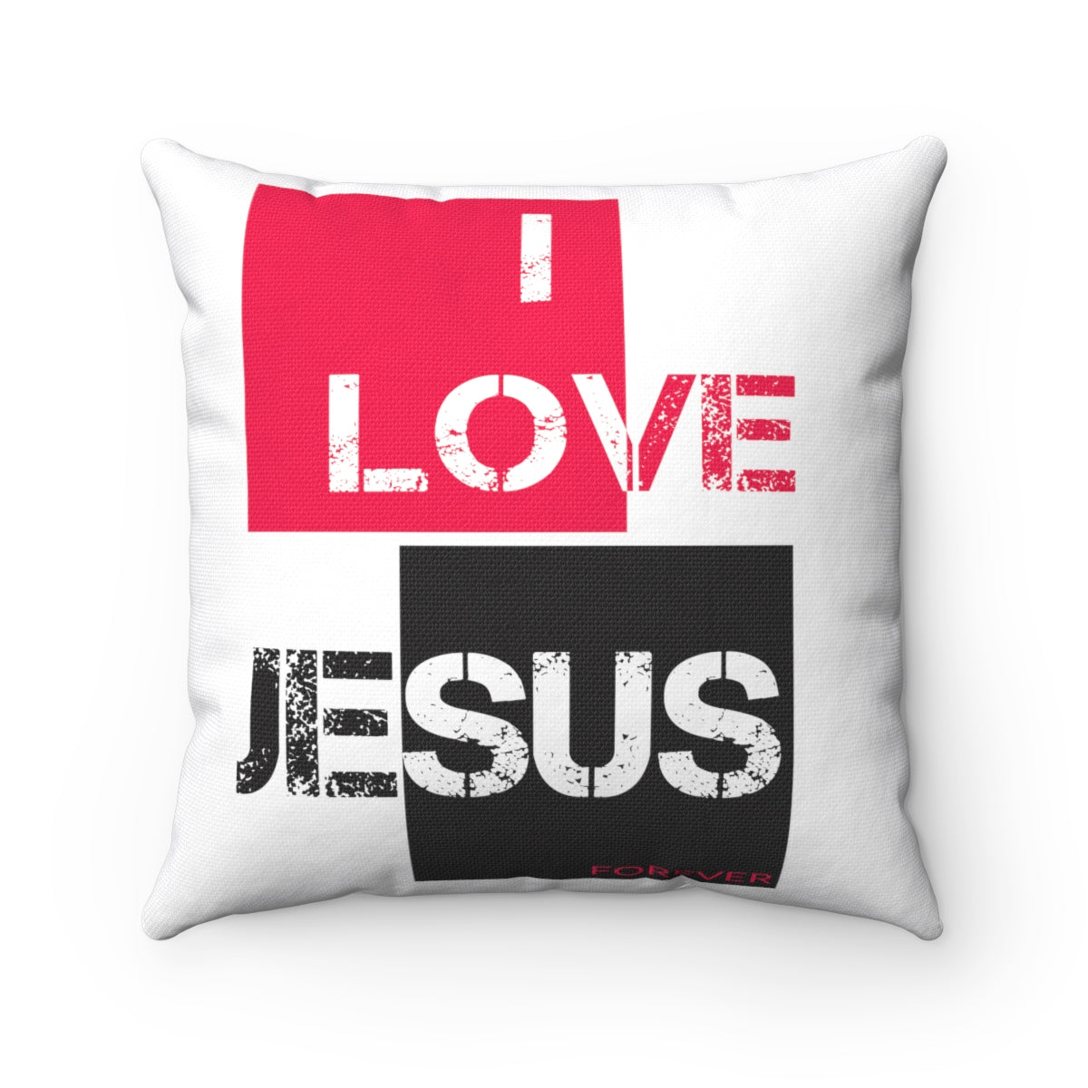 I LOVE JESUS Spun Polyester Square Pillow